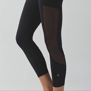 Lululemon High Times hi rise mesh ankle leggings